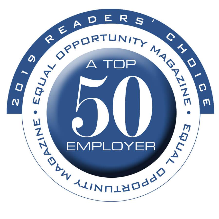 2019 A Top 50 Employer | Reader's Choice